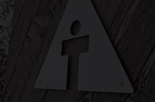darkened stylized photo of the st amant environmental signage