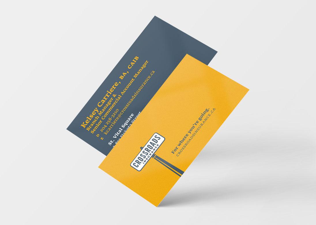 Crossroads Insurance - business cards