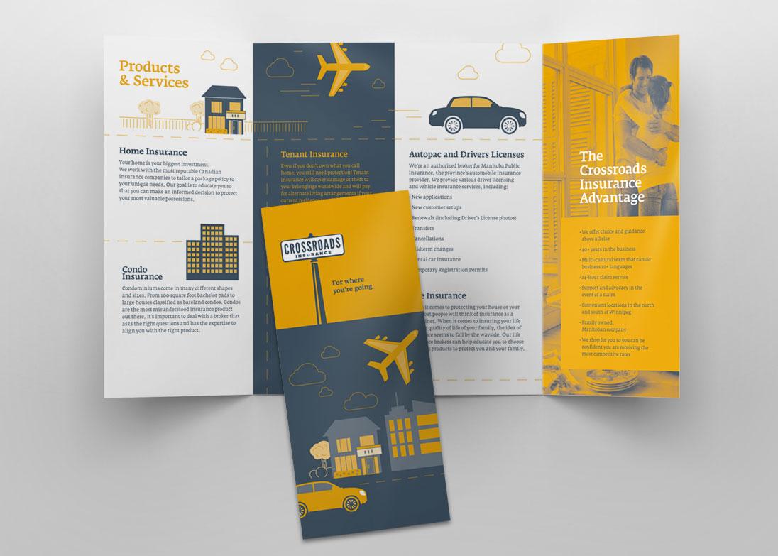 Crossroads Insurance pamphlets
