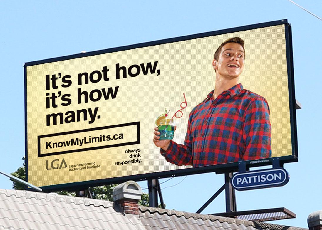 LGA know my limits campaign billboard