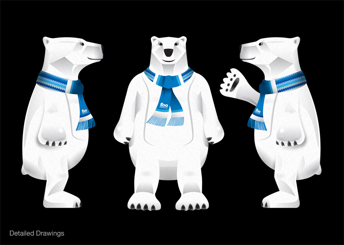 Polar bear Mascot mock up