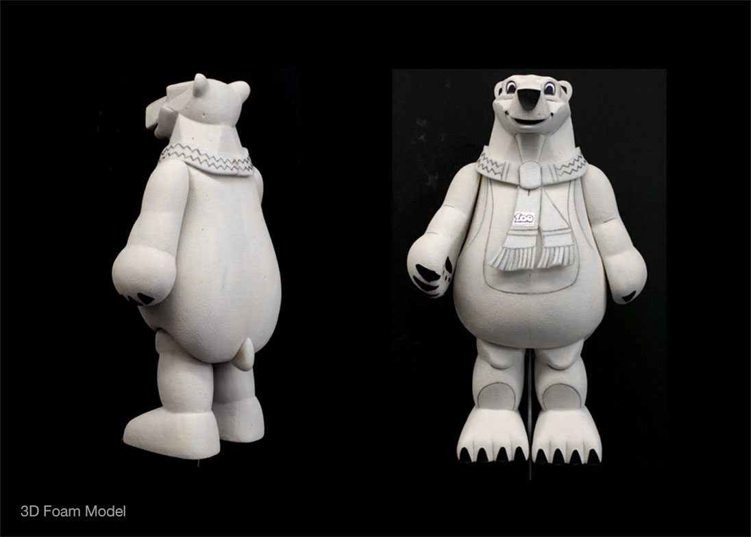 Polar bear Mascot 3d render
