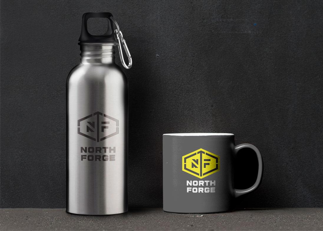 north forge mugs and water bottles