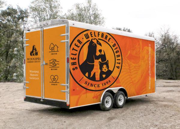Winnipeg Humane Society trailer