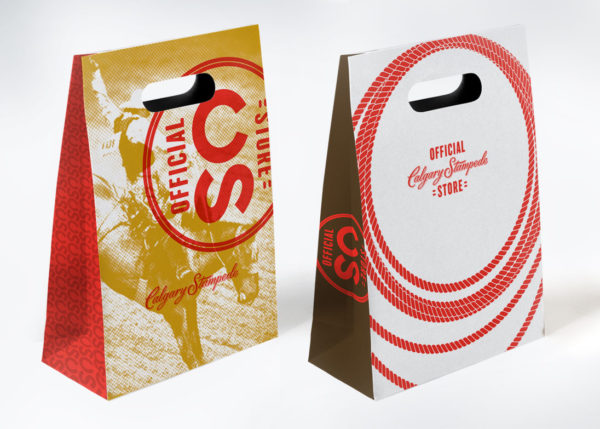 calgary stampede branded paper bags